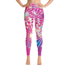 Load image into Gallery viewer, Pink Bloom yoga leggings - BlossomandWren