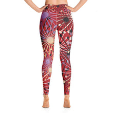 Load image into Gallery viewer, Red Bloom Yoga Leggings - BlossomandWren