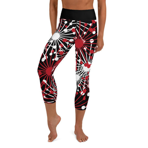 Space Bloom Yoga Capri Leggings - BlossomandWren