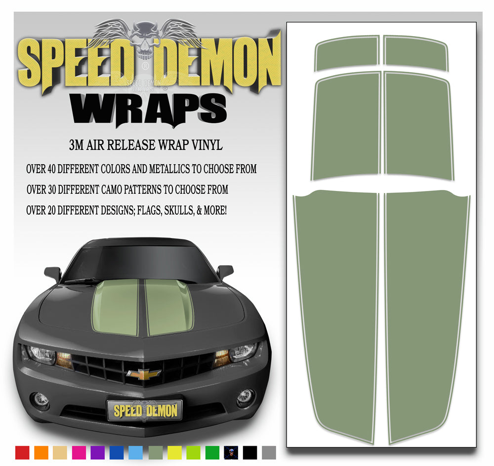 Army Green Camaro Stripes Kit 2010-2015