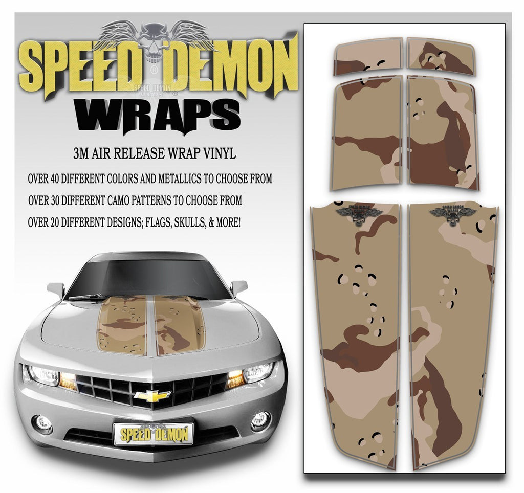 Camaro Camo Stripes Desert Camouflage 2010-2015 - Speed Demon Wraps