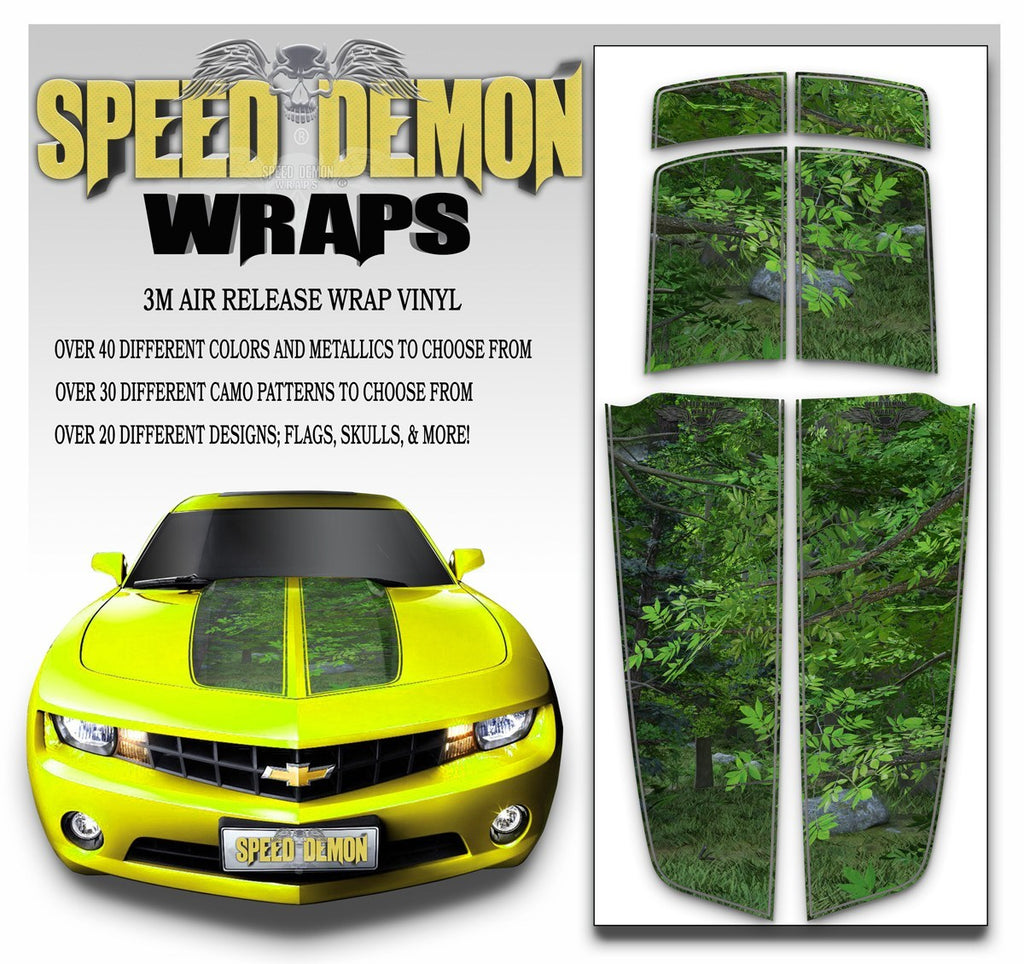Camaro Camo Stripes Forest Camouflage 2010-2015 - Speed Demon Wraps