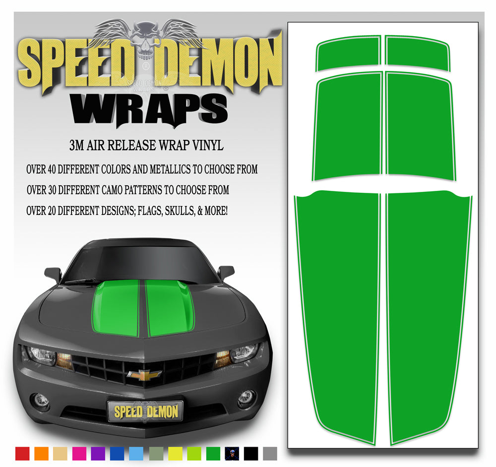 Green Camaro Stripes Kit 2010-2015