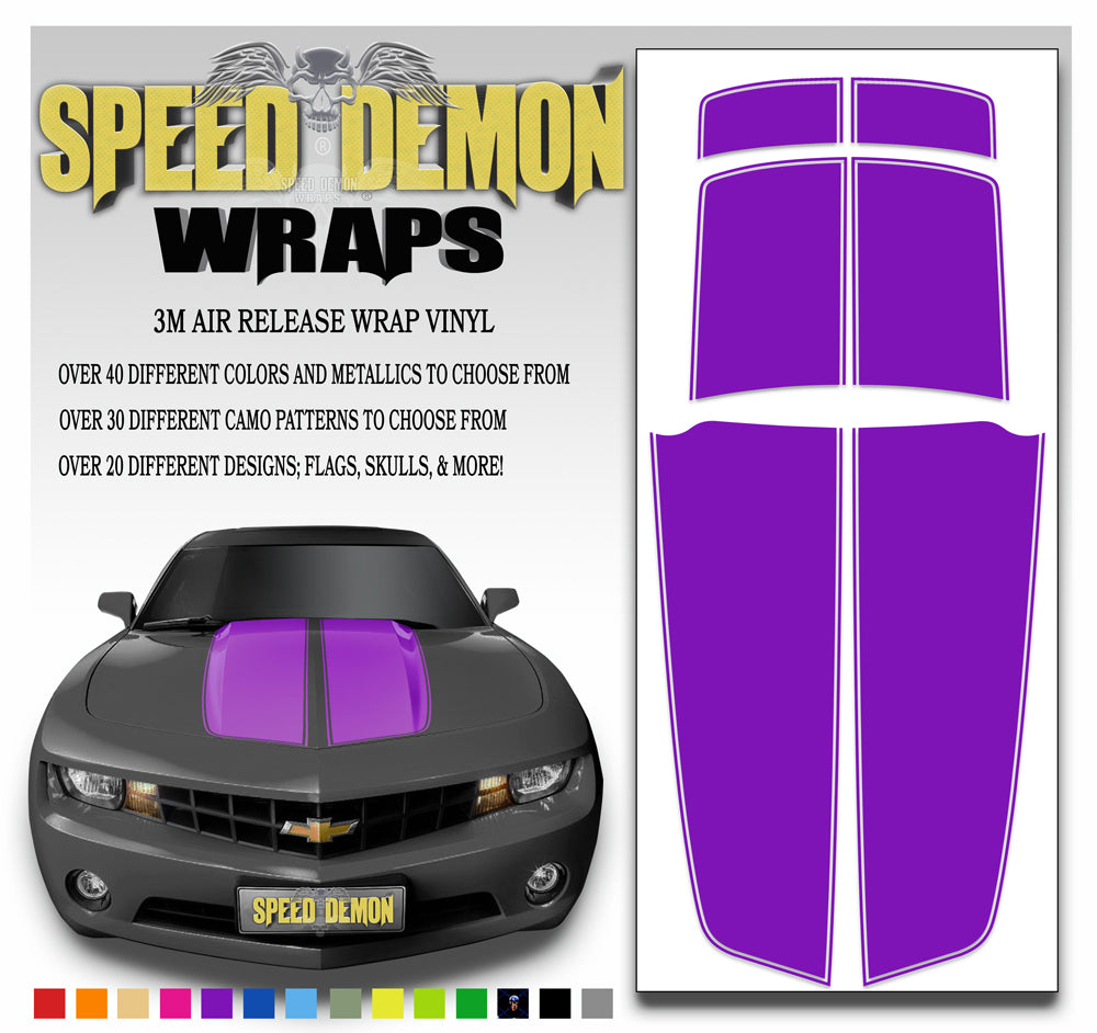 Camaro Stripes Purple