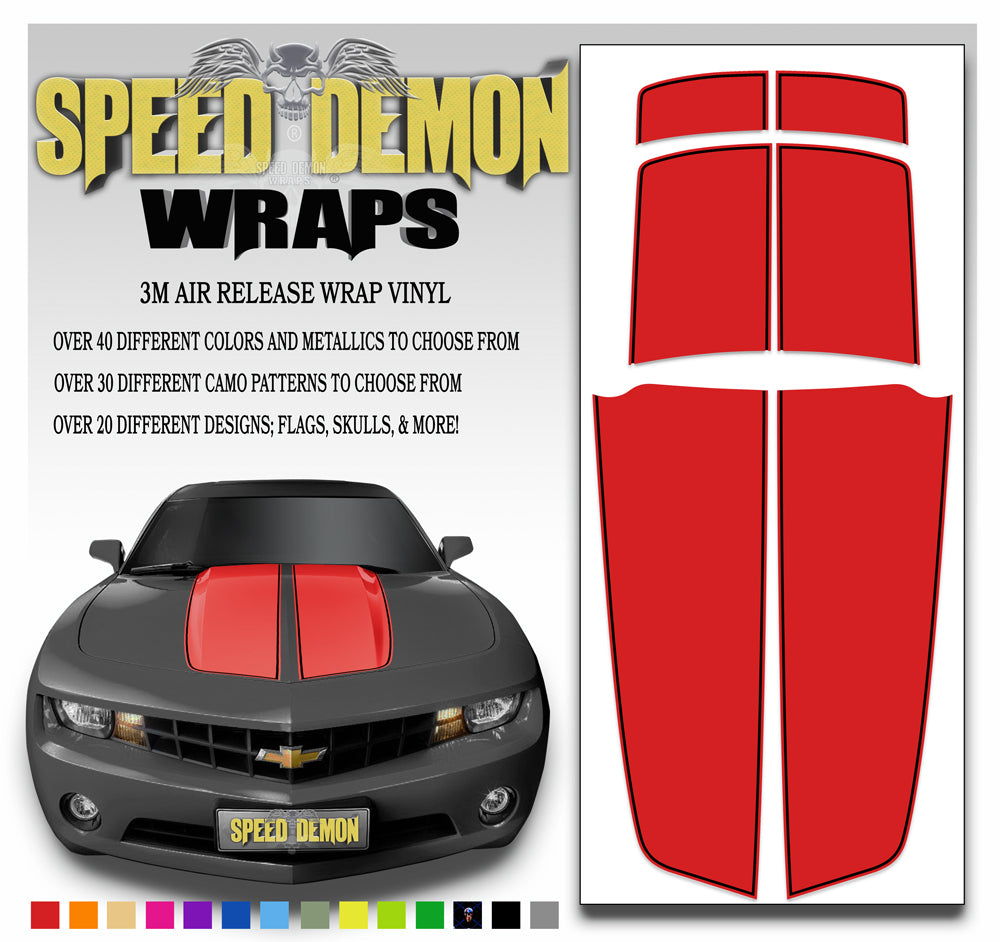 Red Camaro Racing Stripes 2010 - 2015