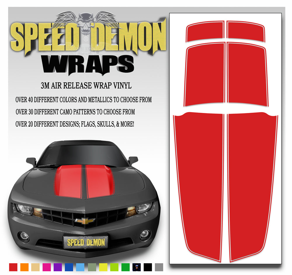 Red Camaro Racing Stripe Kit