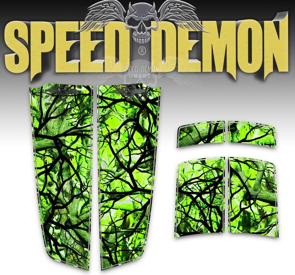 Camaro Camo Stripes Zombie Bile Camouflage 2010-2015 - Speed Demon Wraps