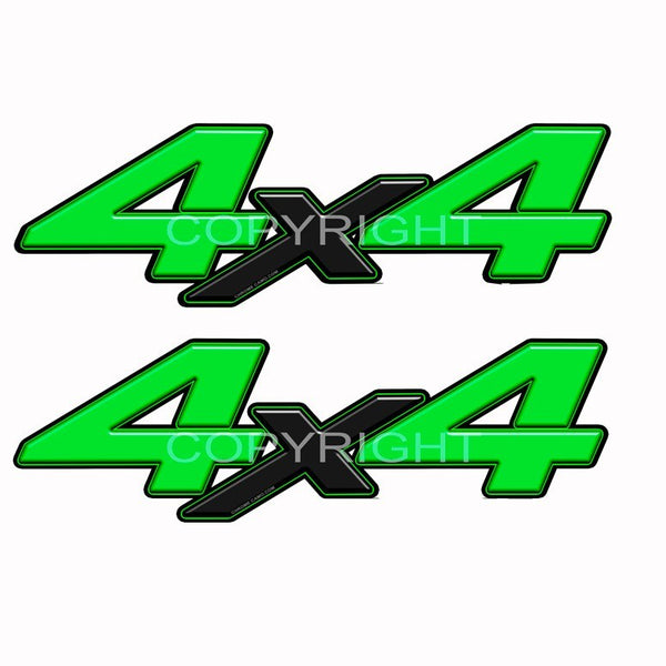 4X4 Decal Green Blk X - Speed Demon Wraps