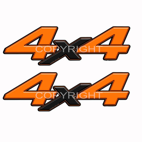 4X4 Truck Decals Orange Blk X - Speed Demon Wraps