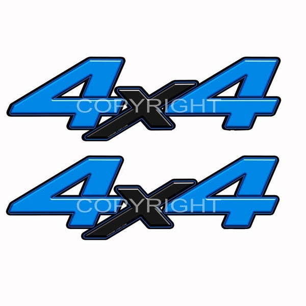4x4 Decal Blue Blk X - Speed Demon Wraps