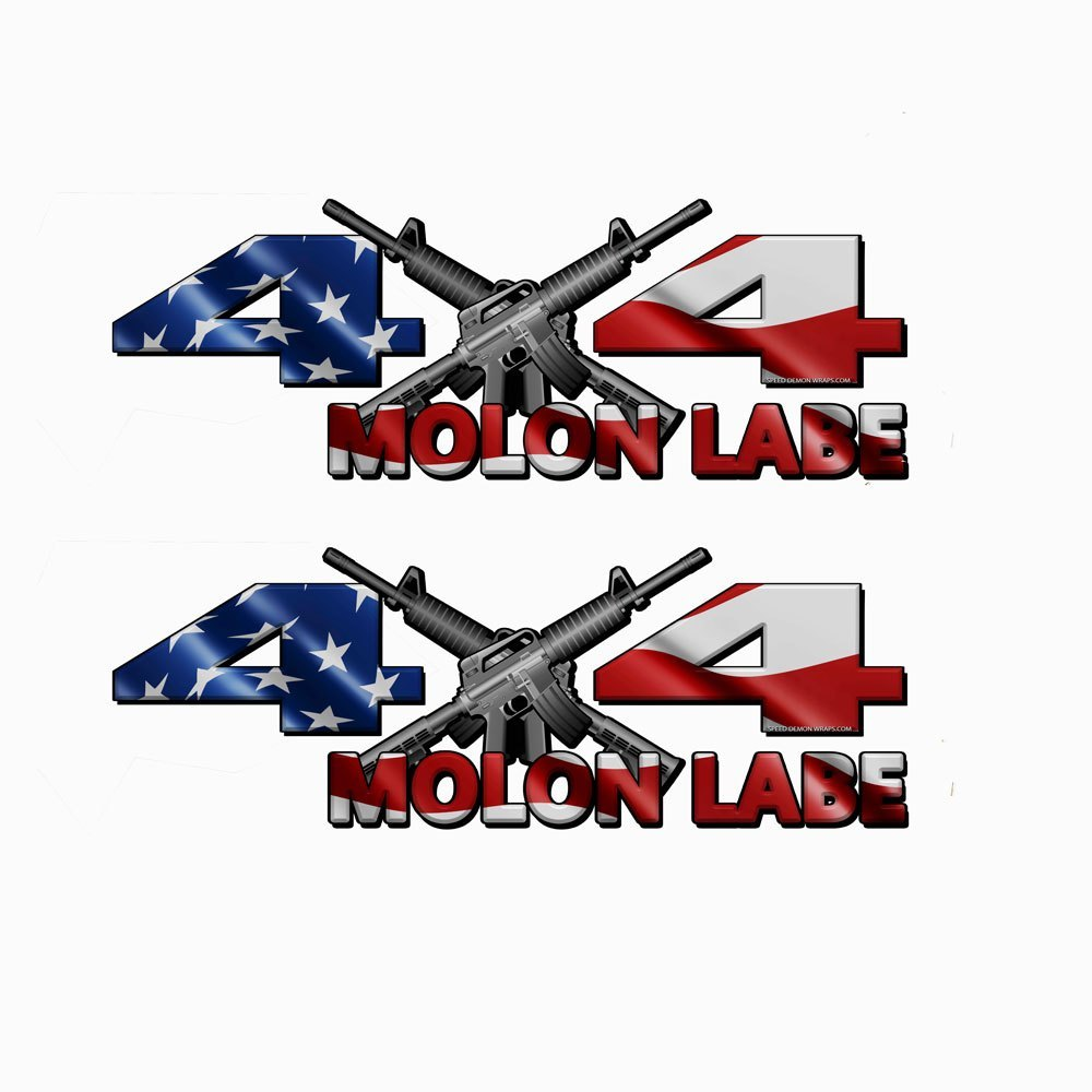 4x4 Decal MOLON LABE  American Flag - Speed Demon Wraps