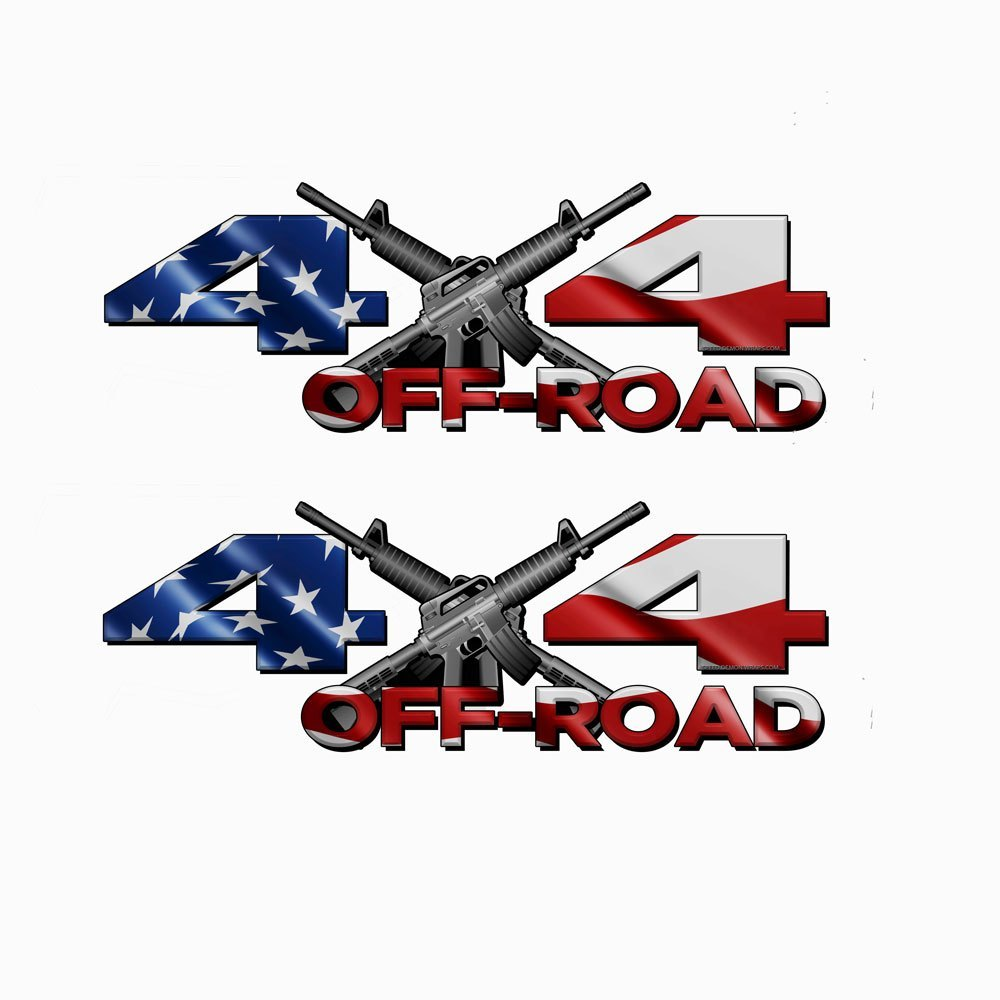 4x4 Off road American Flag Decals - Speed Demon Wraps