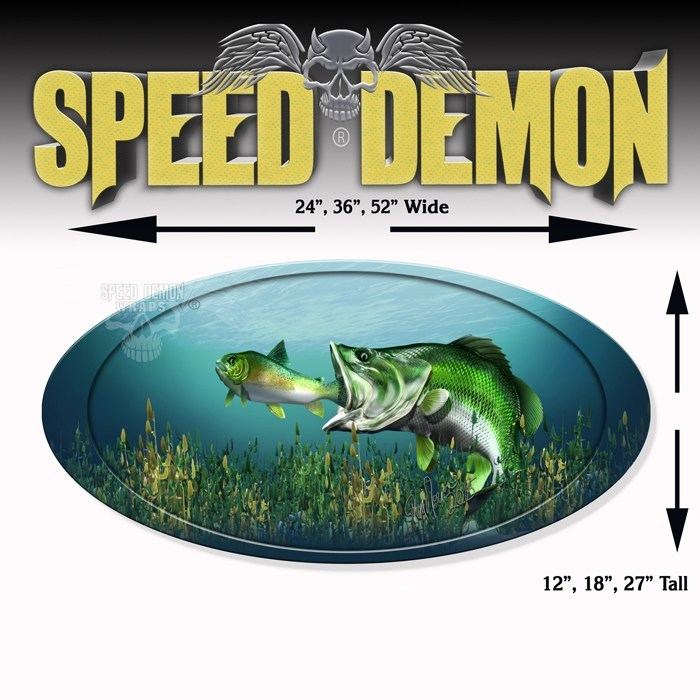 5th Wheel Trailer Graphics Large Mouth Bass - Speed Demon Wraps