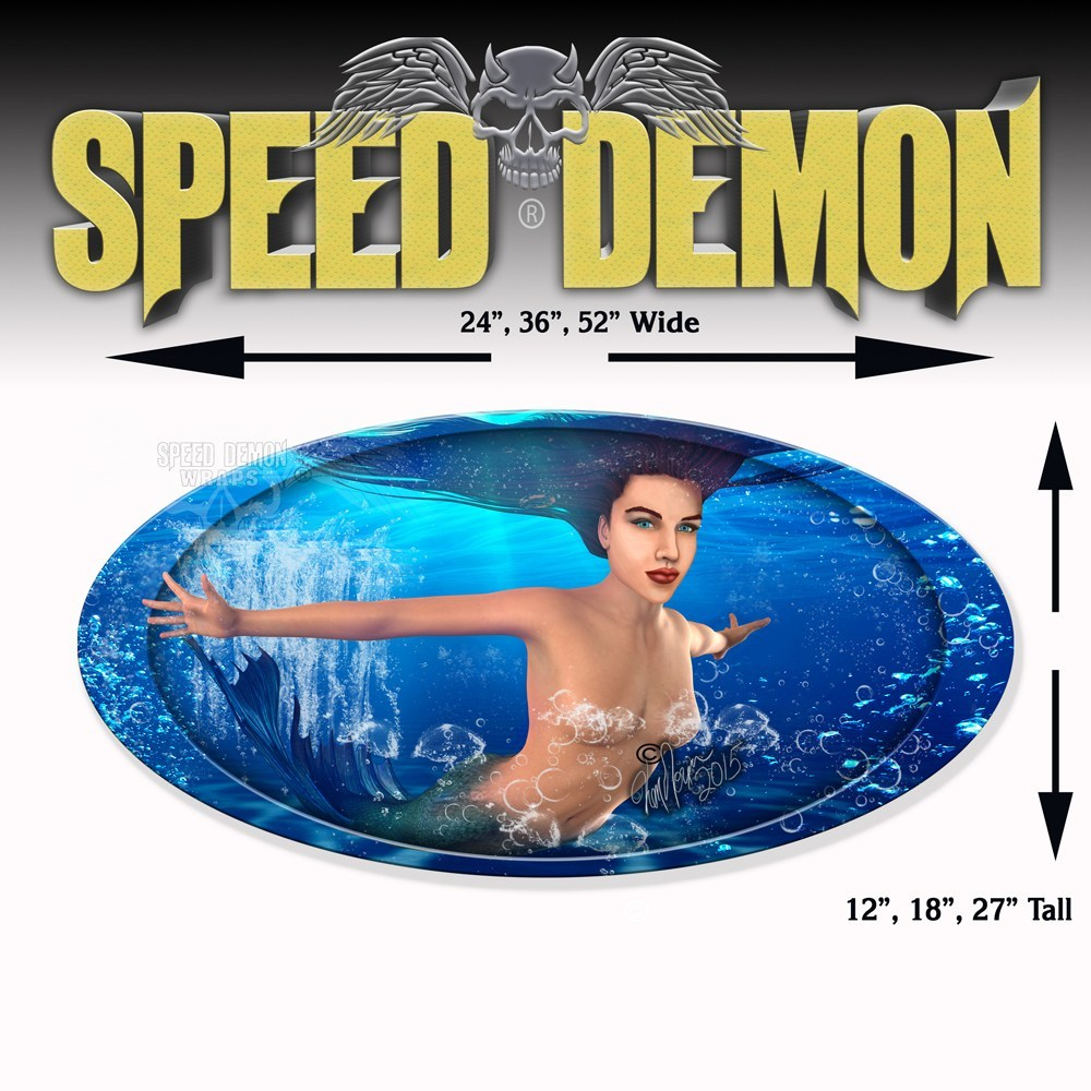 5th Wheel Trailer Graphics Mermaid - Speed Demon Wraps