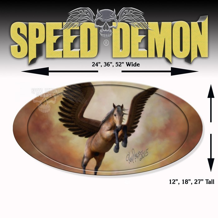 5th Wheel Trailer Graphics-Pegasus Oval - Speed Demon Wraps
