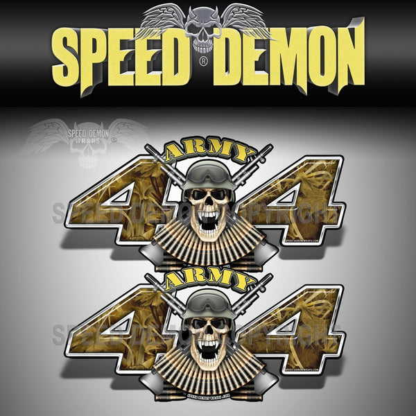 Army 4x4 Decals Skull Fallout Camo - Speed Demon Wraps