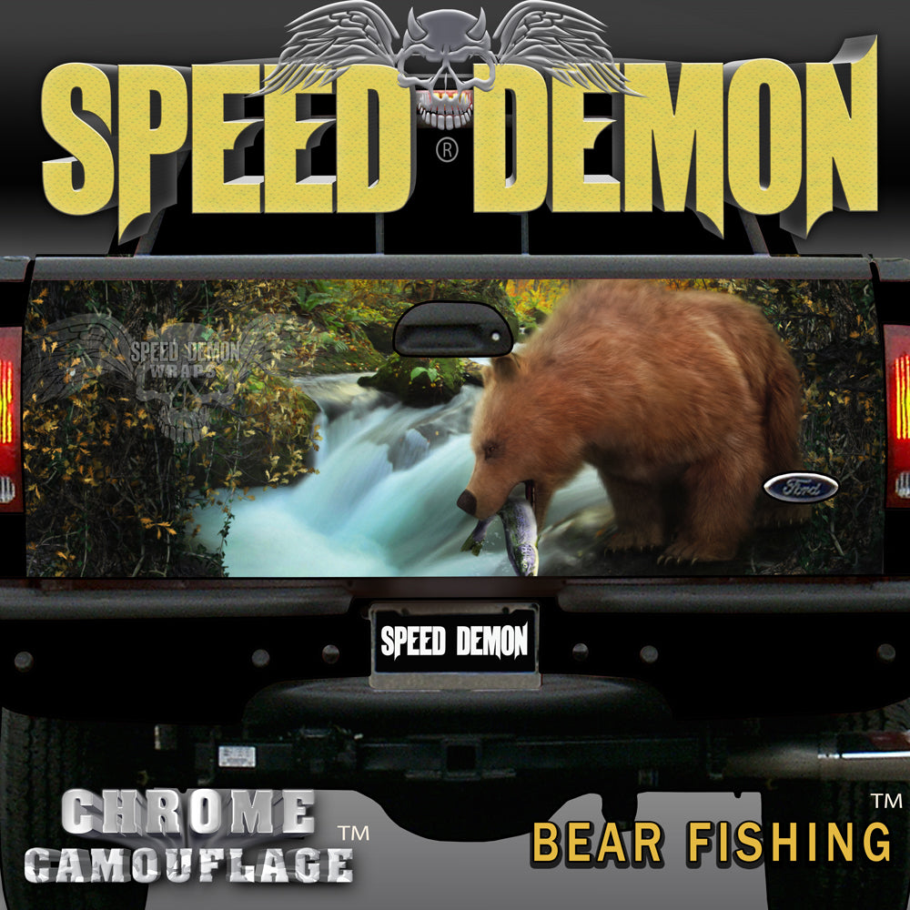 Tailgate Wraps Bear Fishing