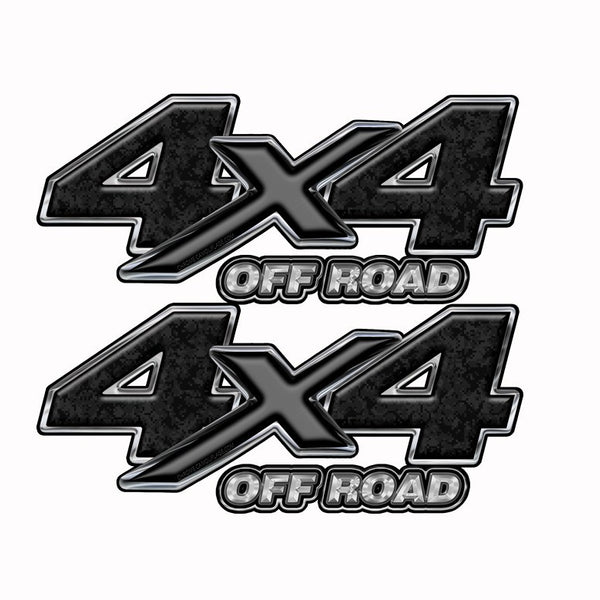 4x4 OFF ROAD Truck Bed Camo Graphics -Black Digital Camouflage - Speed Demon Wraps