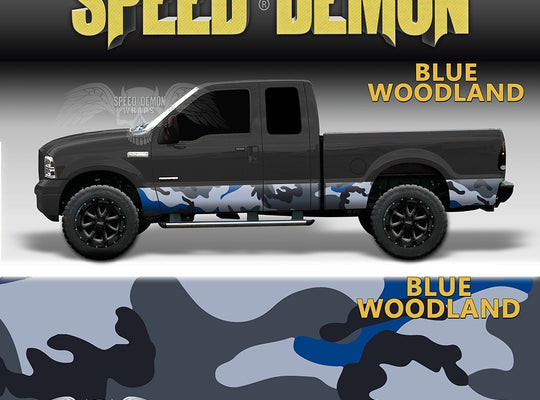 Rocker Panel Wrap Camo Kit Blue Urban Camouflage - Speed Demon Wraps