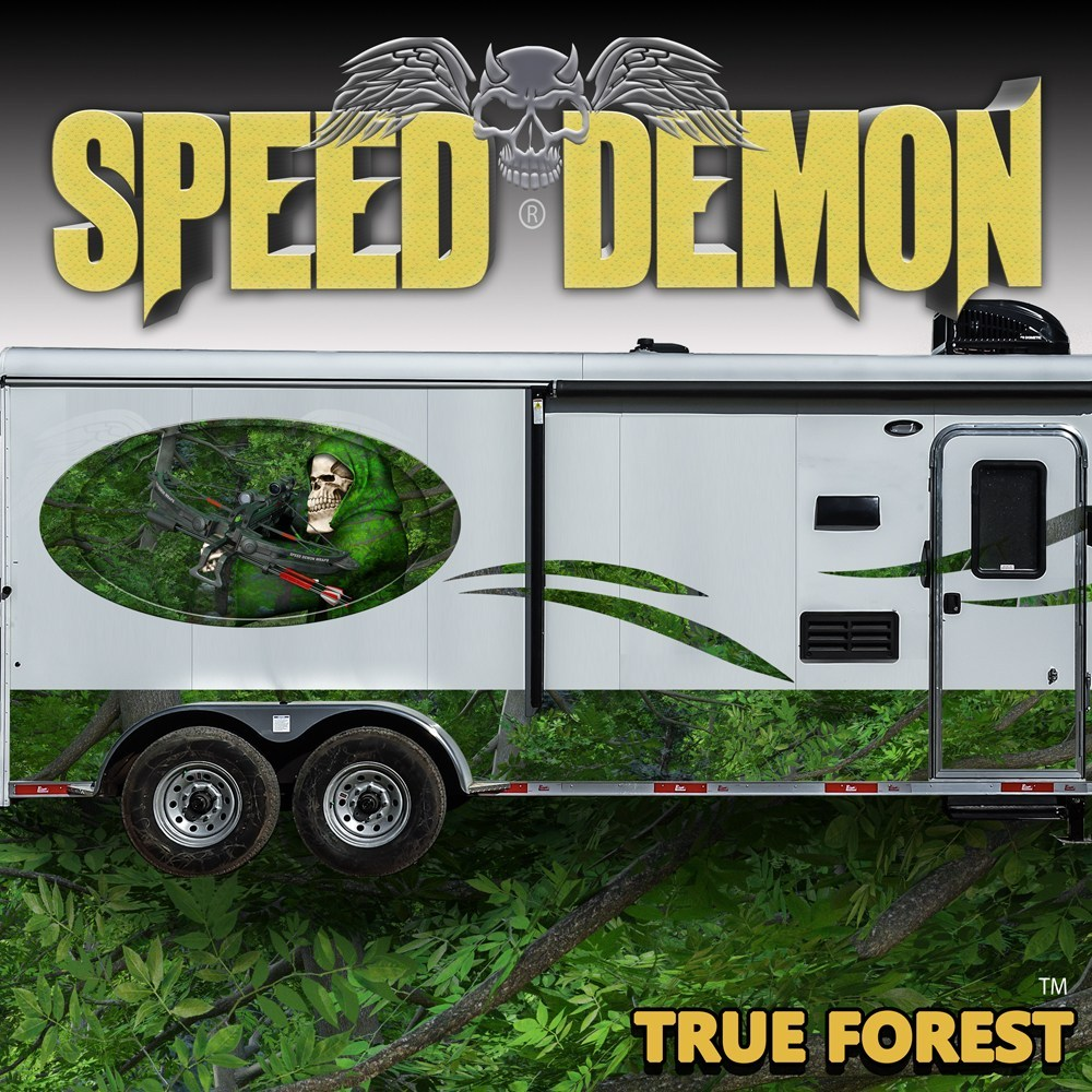 Camouflage RV Rocker Wrap Forest - Speed Demon Wraps