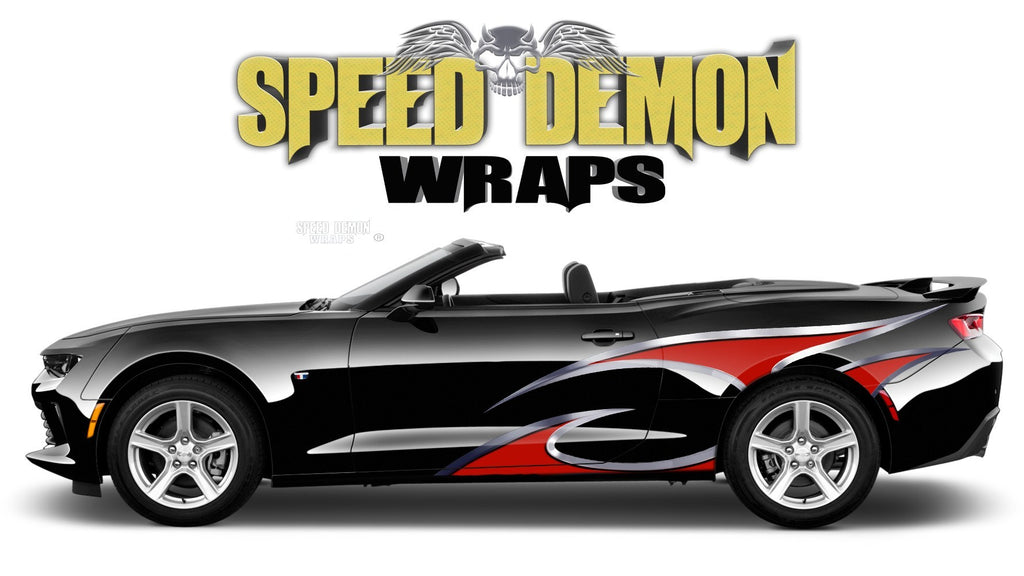 Camaro Side Stripes TF Decals Vinyl Graphics Kit 2016-2019 - Speed Demon Wraps