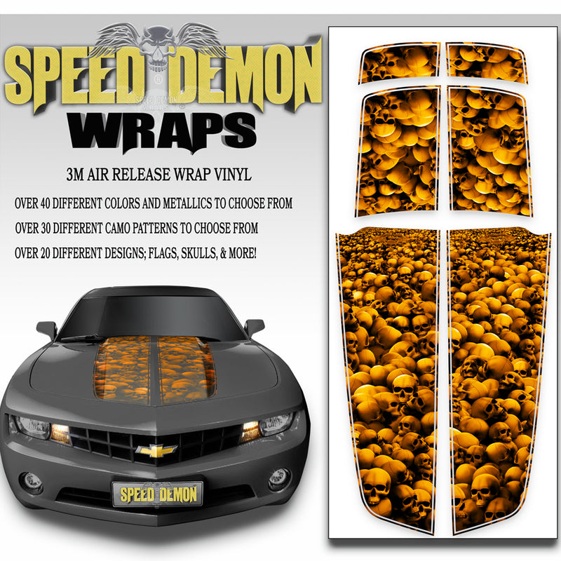 Camaro Stripes Kit Skulls Unhallowed Orange 2010-2015