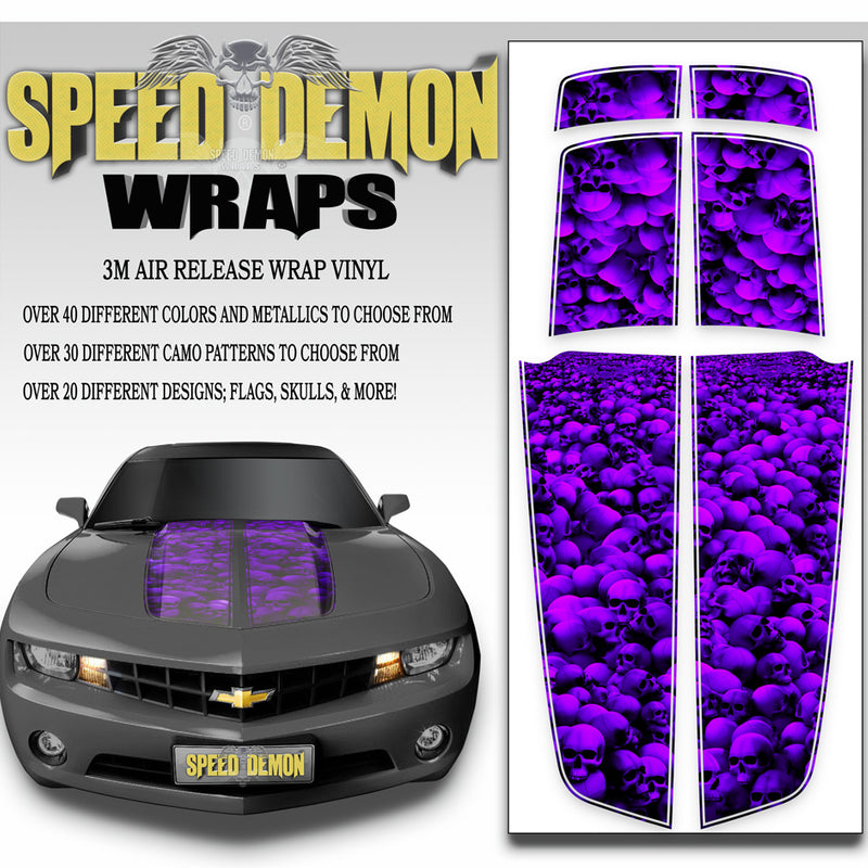Camaro Stripes Kit Skulls Unhallowed Ground Purple 2010-2015 - Speed Demon Wraps