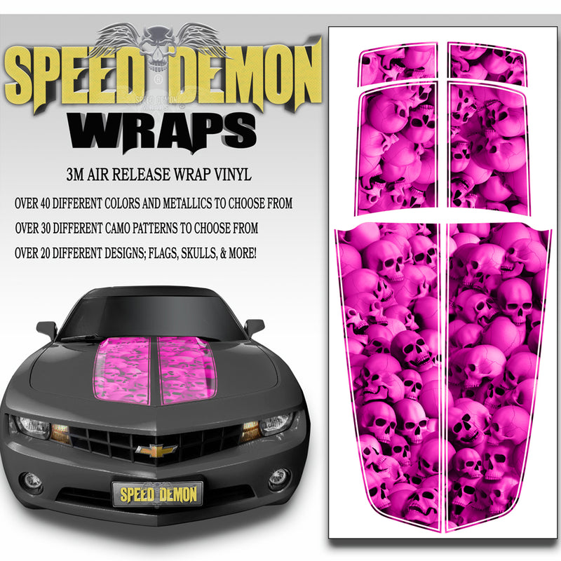 2010-2015 Camaro Stripes Hot Pink Skulls 2010-2015