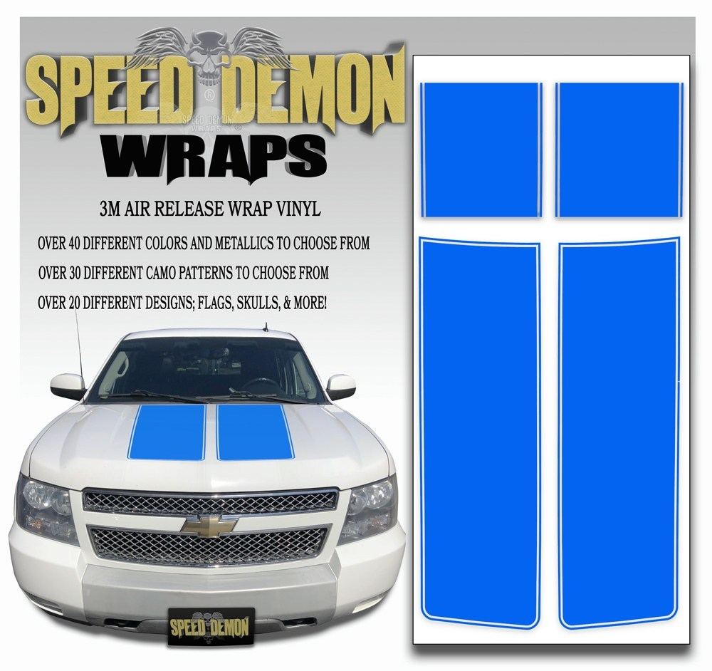 Chevrolet Avalanche Stripes - Blue 2007-2013 - Expert - Speed Demon Wraps