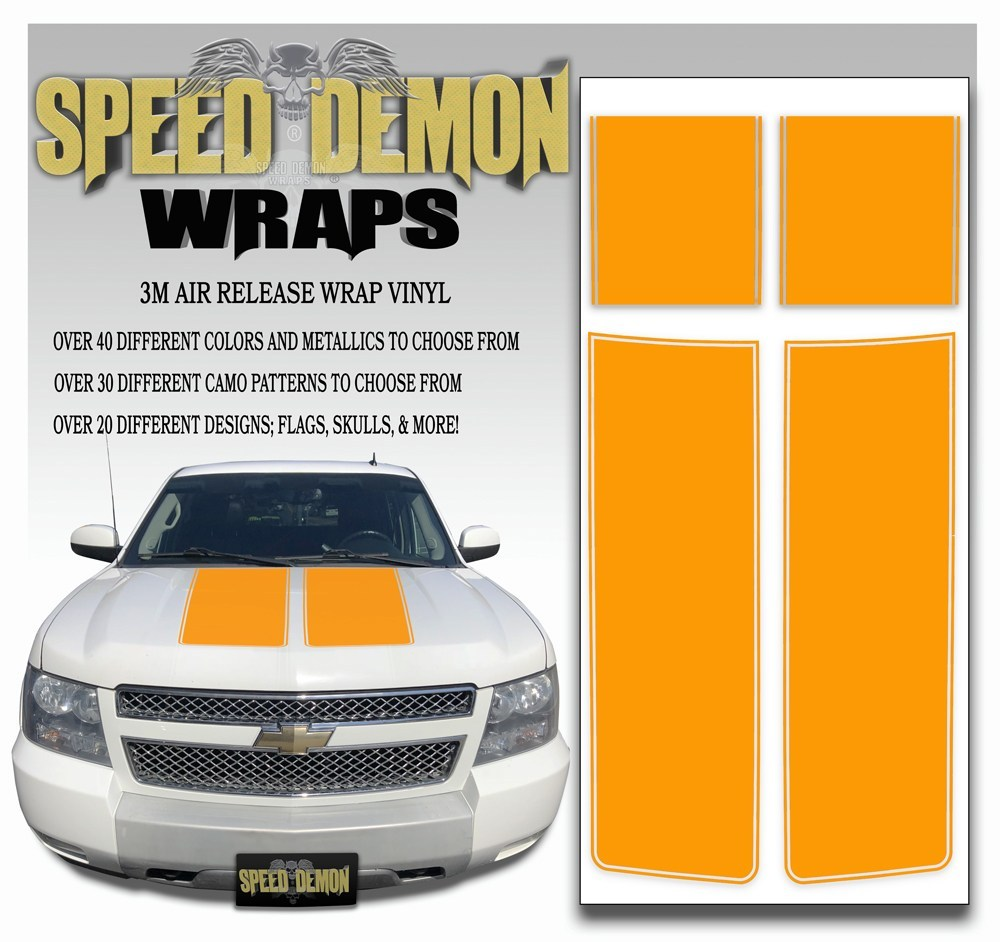 Chevrolet Avalanche Stripes - Orange 2007-2013 - Expert - Speed Demon Wraps