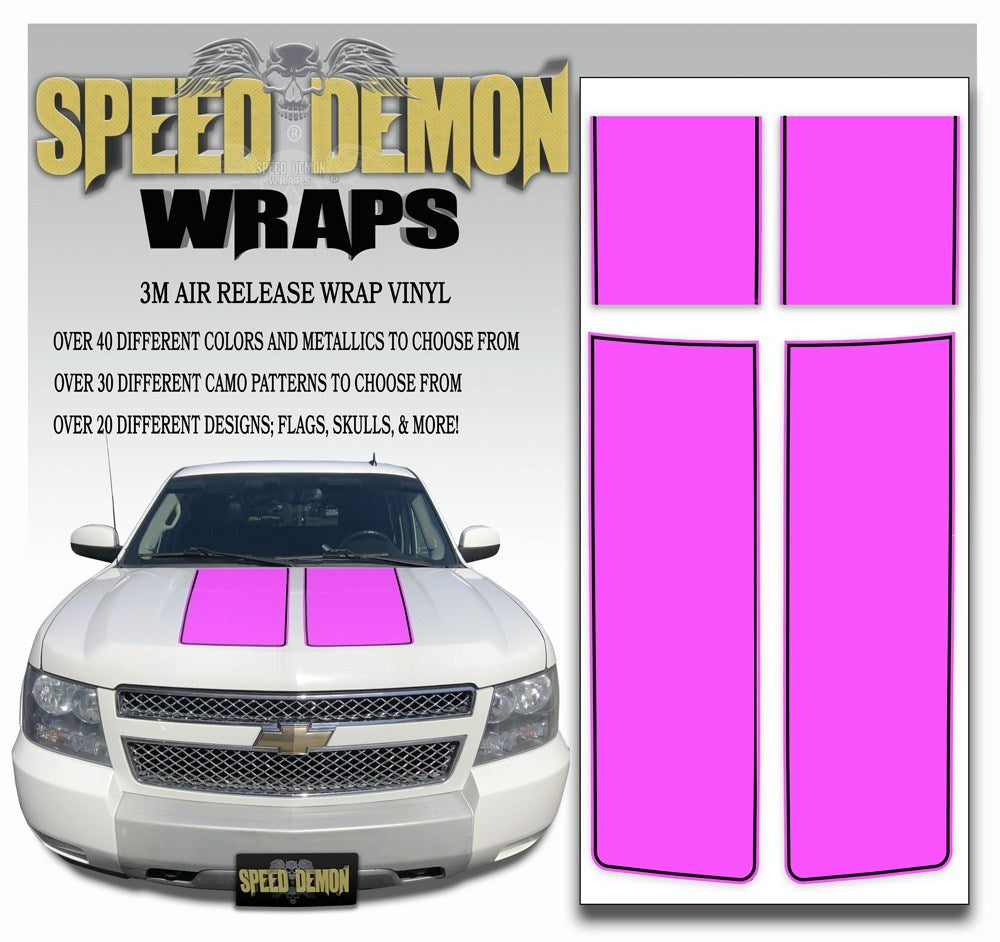 Chevrolet Avalanche Stripes - Pink & Black Stripe 2007-2013 - Novice - Speed Demon Wraps