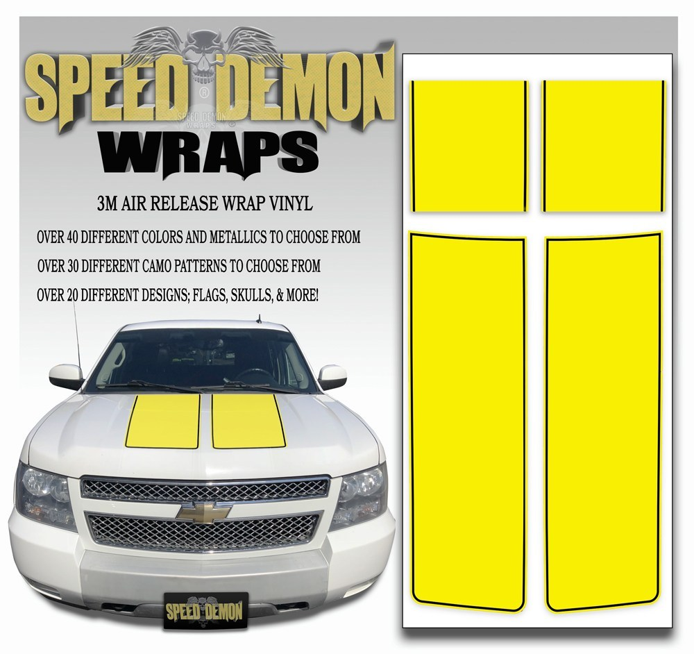 Chevrolet Avalanche Stripes - Yellow & Black Stripe 2007-2013 - Novice - Speed Demon Wraps