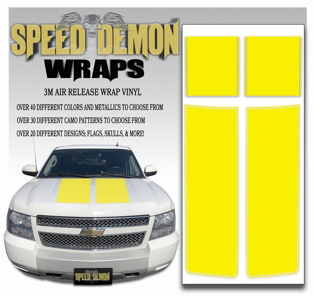 Chevrolet Avalanche Stripes - Yellow 2007-2013 - Expert - Speed Demon Wraps