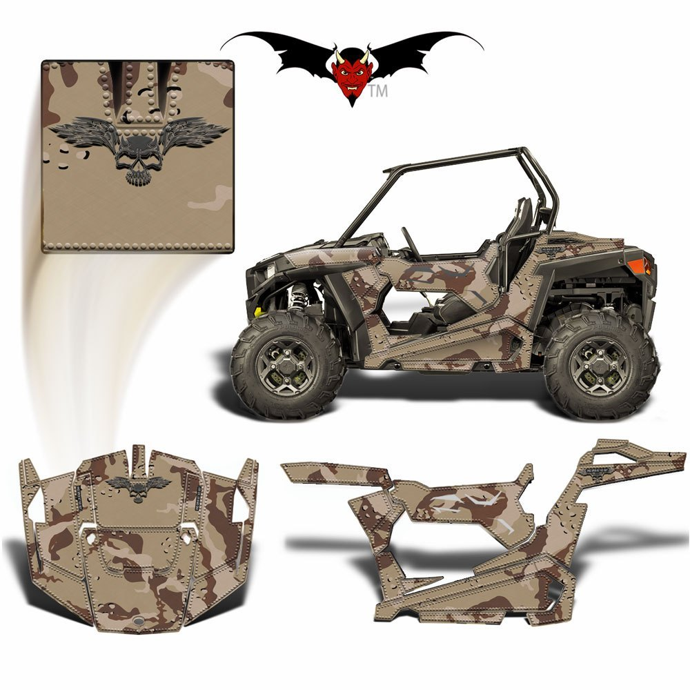 RZR 900 S GRAPHICS WRAP -  CUSTOM CAMOUFLAGE - Speed Demon Wraps