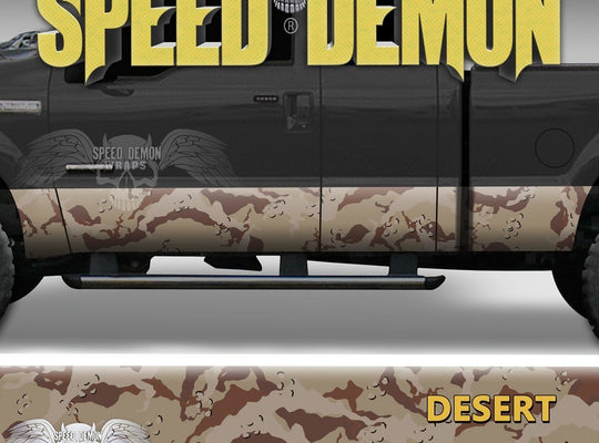 Desert Camo Camouflage Rocker Panel Wraps - Speed Demon Wraps