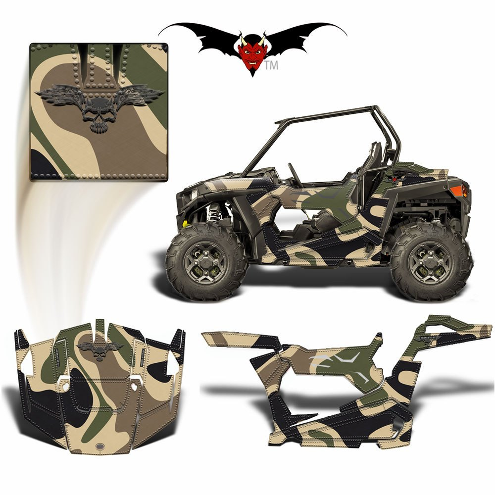 RZR 900 S GRAPHICS WRAP -  DESERT CAMOUFLAGE - Speed Demon Wraps