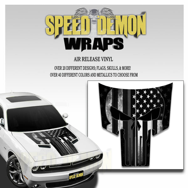 Dodge Challenger Punisher Subdued American Flag T Stripes 2015-2018