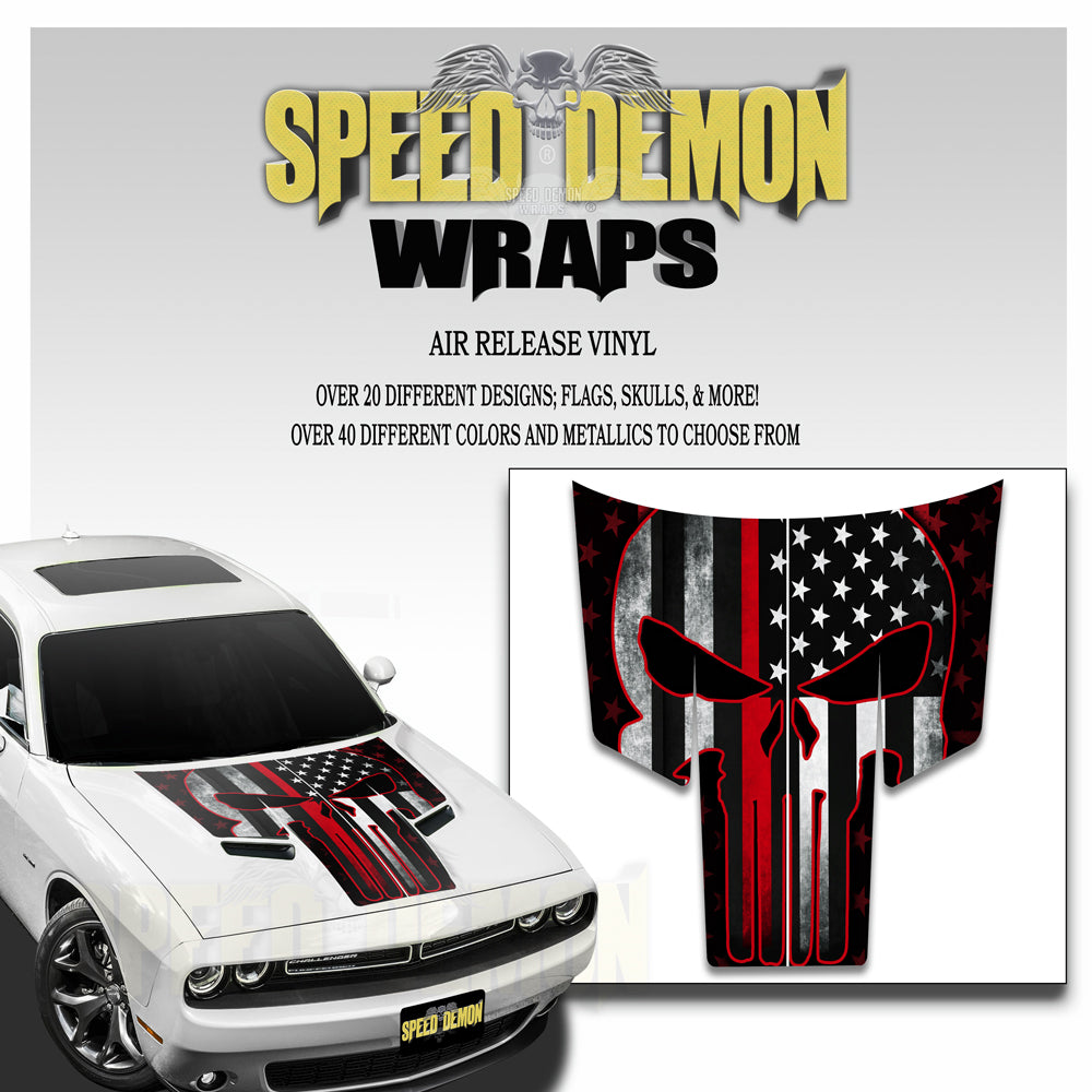 Dodge Challenger Thin Red Line Punisher American Flag T Stripe 2015-2018