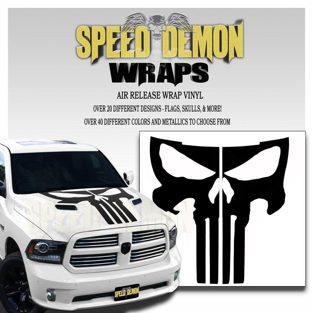 Dodge Ram Punisher Hood Stripes 2009-2018