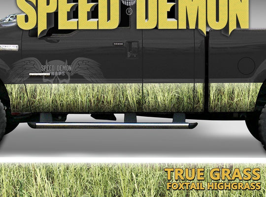 Rocker Panel Wrap Camo Kit Foxtail Highgrass Camouflage - Speed Demon Wraps