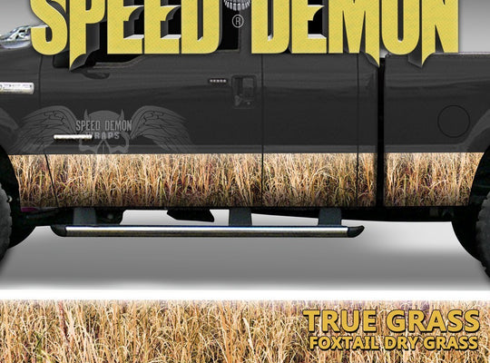 Rocker Panel Wrap Camo Kit Foxtail Drygrass Camouflage - Speed Demon Wraps