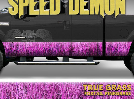 Rocker Panel Wrap Camo Kit Foxtail Pink Highgrass Camouflage - Speed Demon Wraps