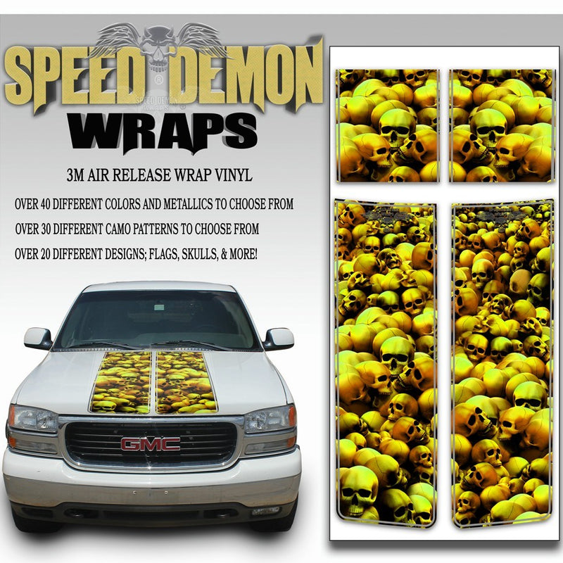 GMC Yukon Stripes Skulls Gold 1999-2006 - Speed Demon Wraps