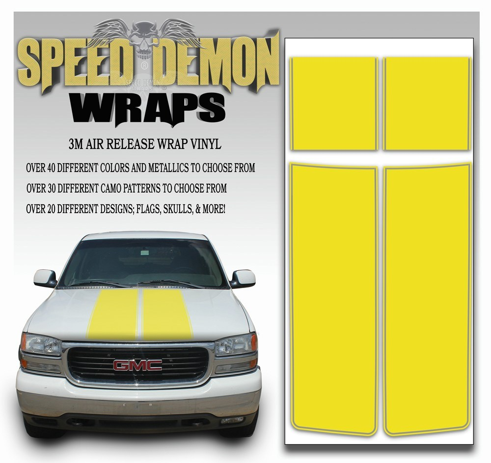 GMC Yukon Stripes Yellow 1999-2006 - Speed Demon Wraps