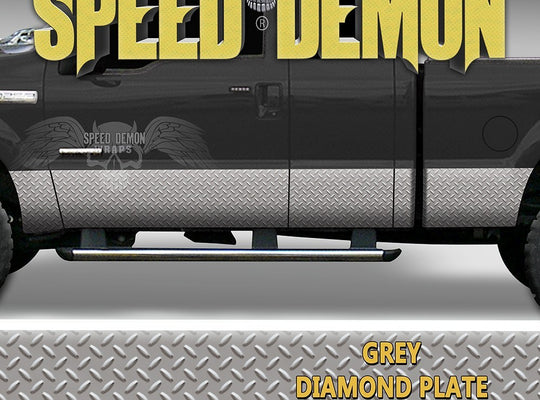 Diamond Plate Rocker Panel Wraps - Speed Demon Wraps