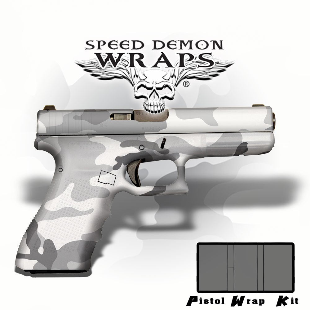 Gun Wrap Universal Skins ~ Urban Snow  Camouflage - Speed Demon Wraps