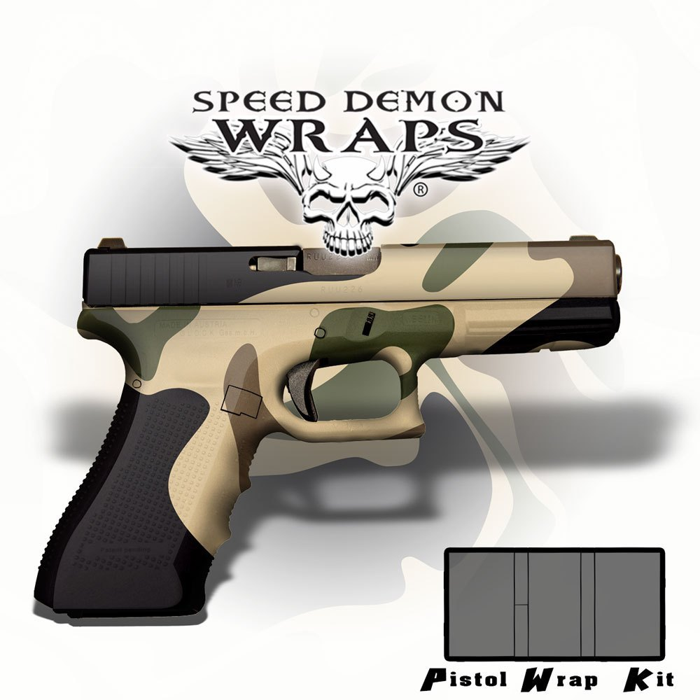 Gun Wraps - Universal Skins ~ Badlands WWII Desert Camouflage - Speed Demon Wraps