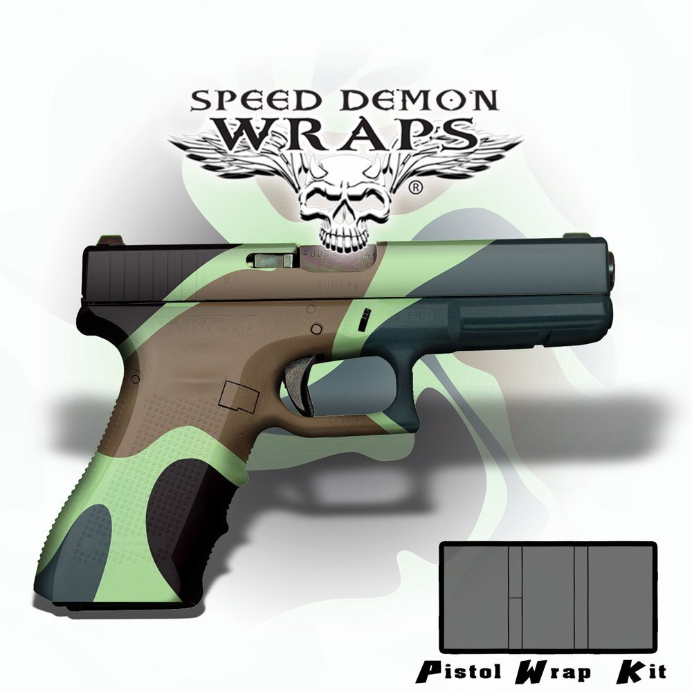 Gun Wraps ~ Badlands WWII Jungle Camouflage - Speed Demon Wraps