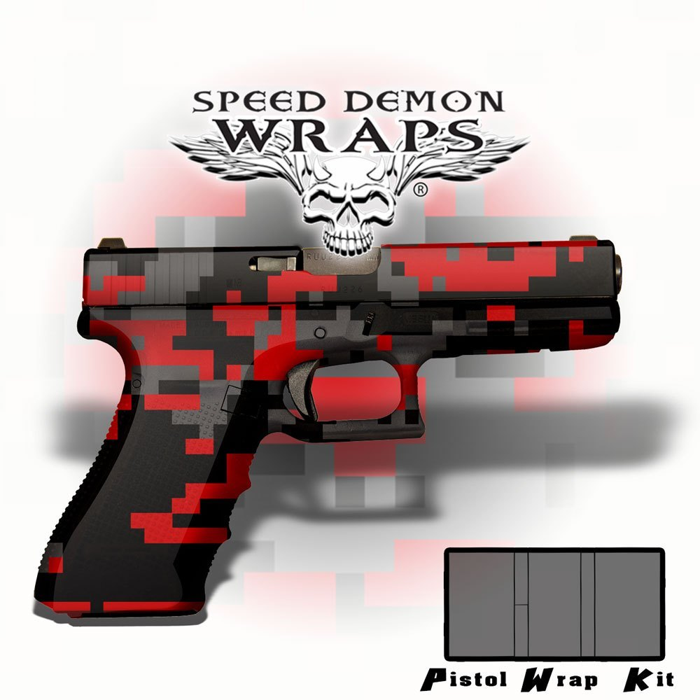 Gun Wraps ~ Red Digital Camouflage - Speed Demon Wraps