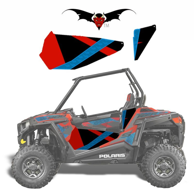 Dragonfire Door Graphics (Havasu Red Pearl / 900 RZR) - Speed Demon Wraps